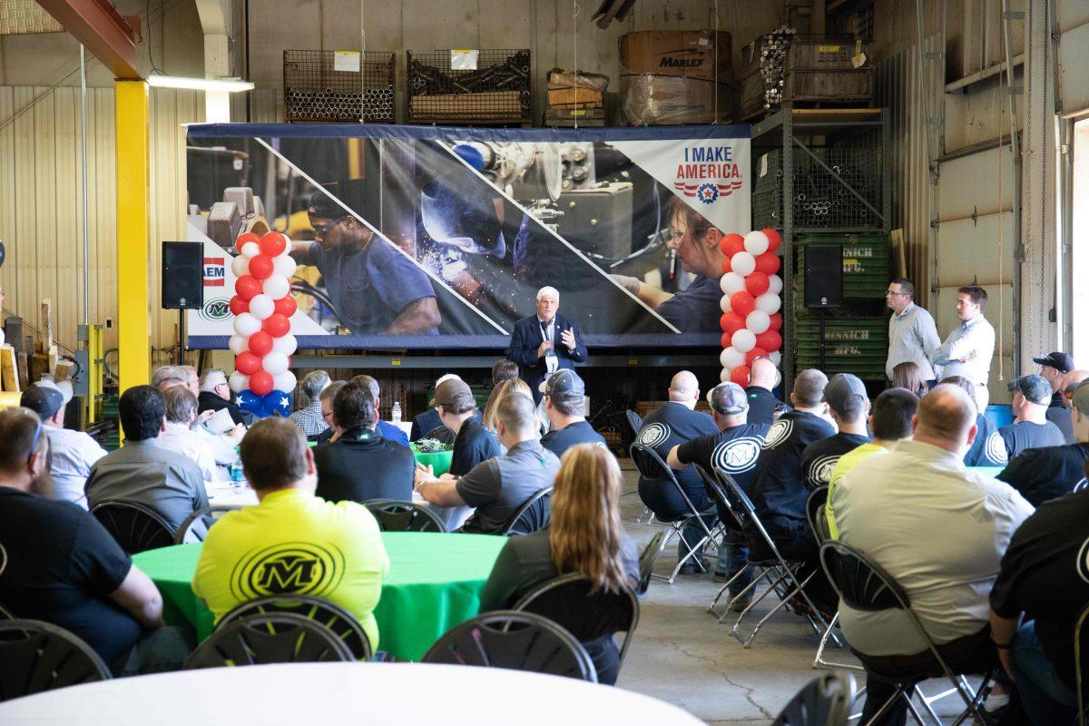 Minnich Manufacturing hosts US Congressman for AEM I Make America Event