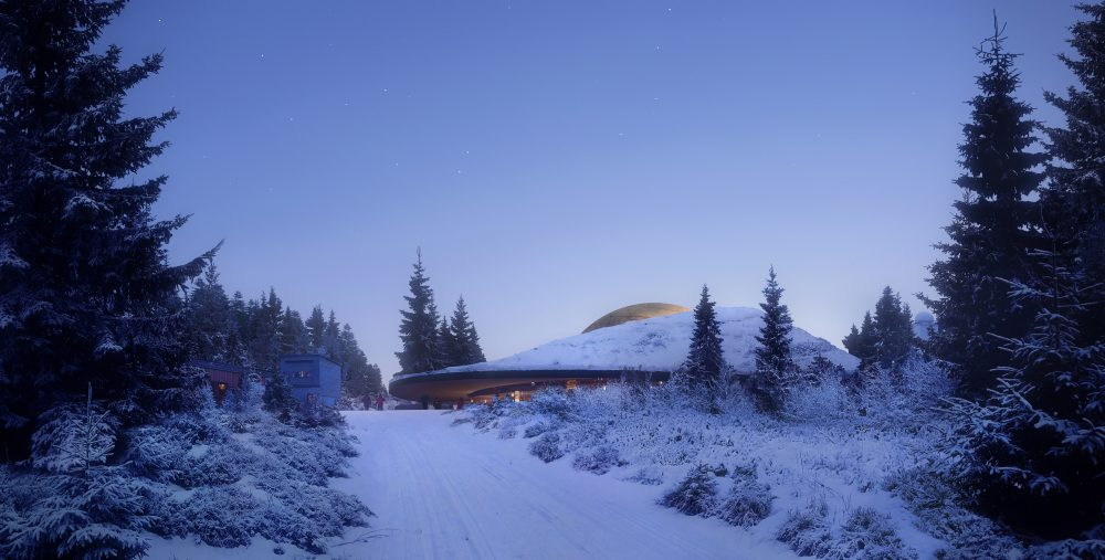 Snøhetta designs planetarium for Solobservatoriet, Norway's largest astronomical facility