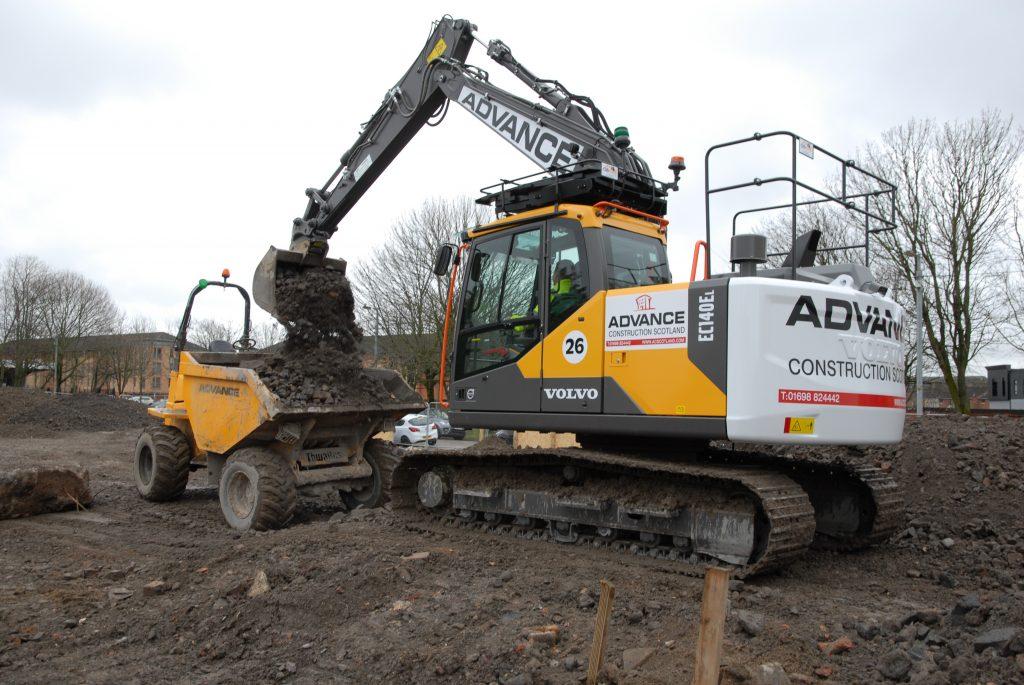 Construction Advances in Scotland with Volvo Excavators