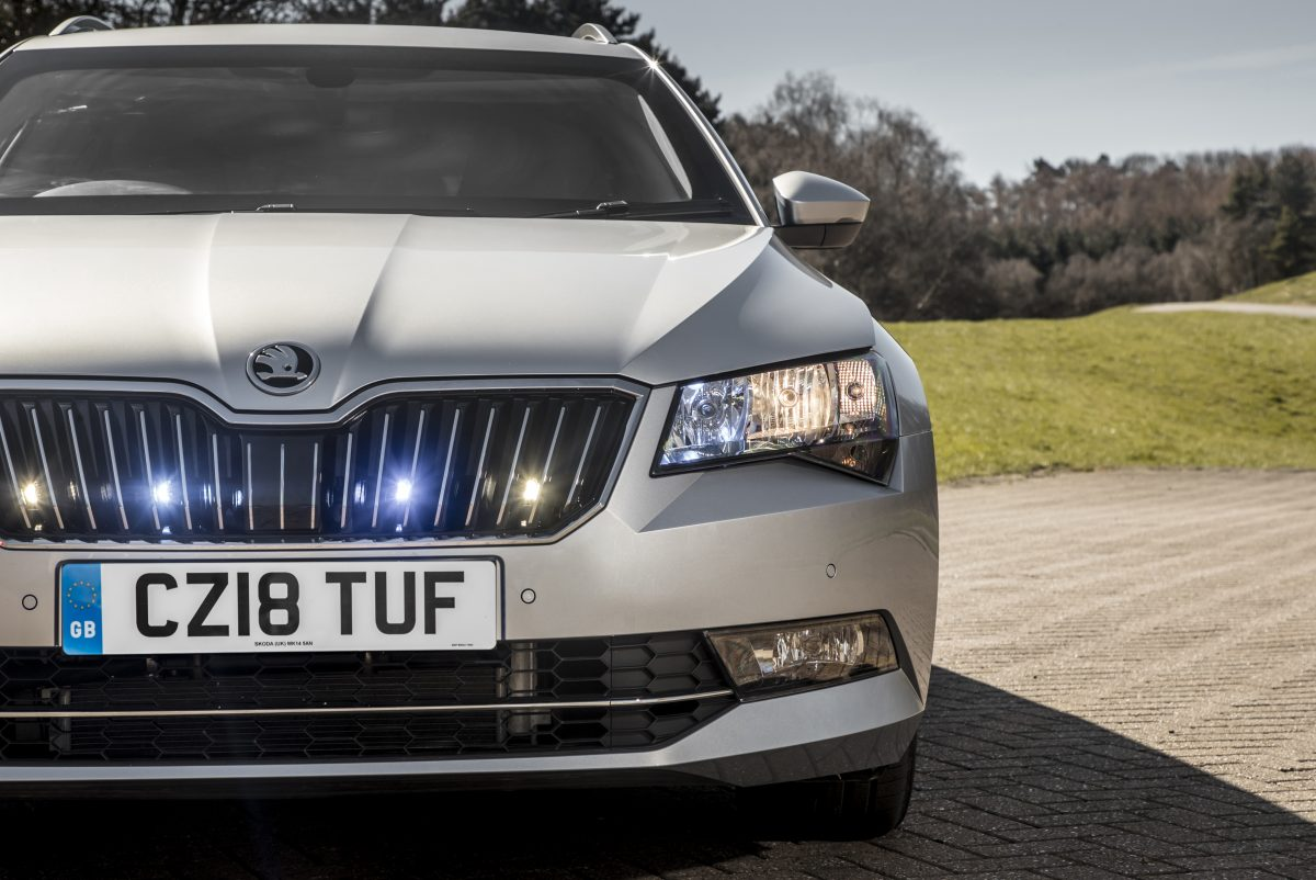 A bullet resistant Skoda for working in dangerous places