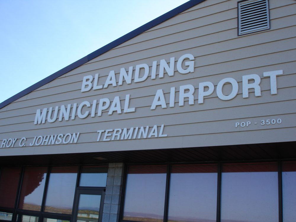Blanding Airport after 15 years and 3 applications of GSB-88