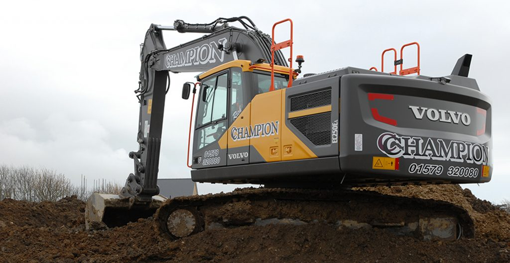 Volvo Excavators and Haulers heading for Cornwall's Champion Groundworks