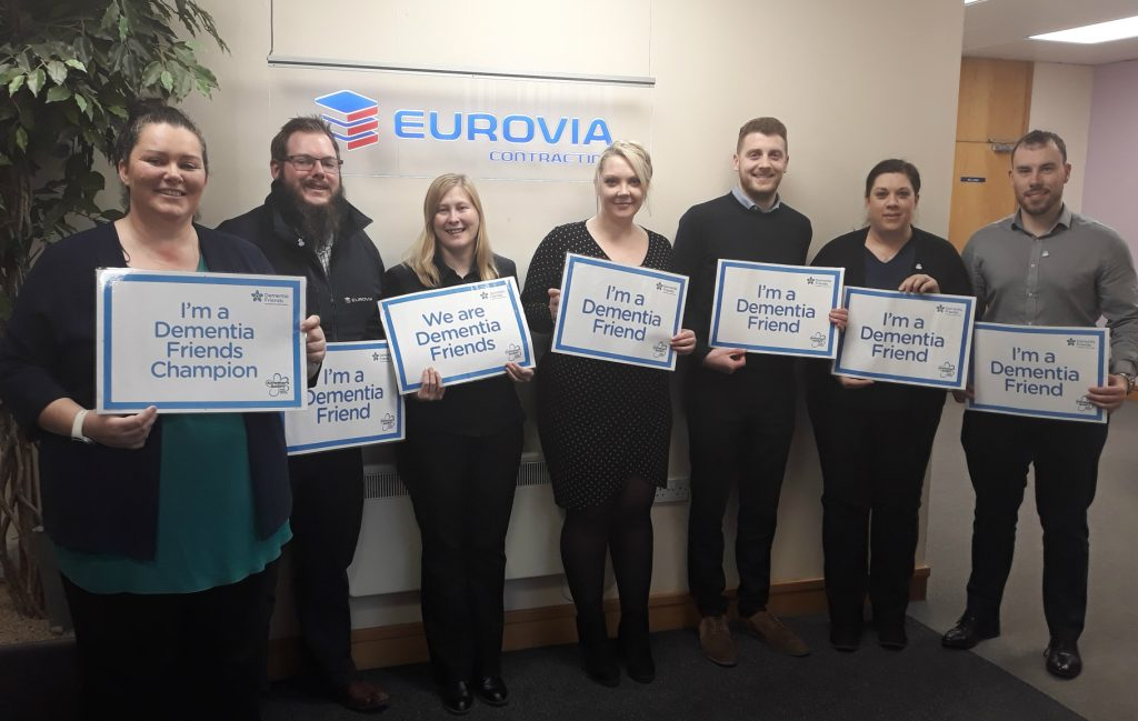 Eurovia hails their Dementia Friends in Dementia Action Week