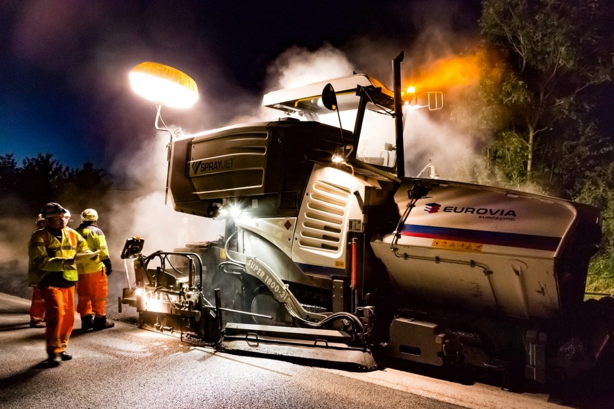 Eurovia Surfacing appointed to Highways England SE and Midlands Pavement Framework