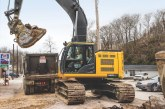 John Deere 345G LC Excavator gets into those tight spaces with ease
