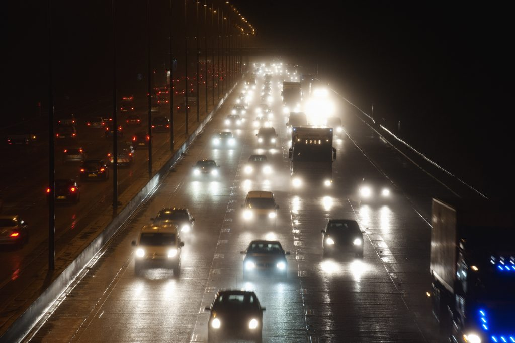 Night Driving - Photo by Highways England