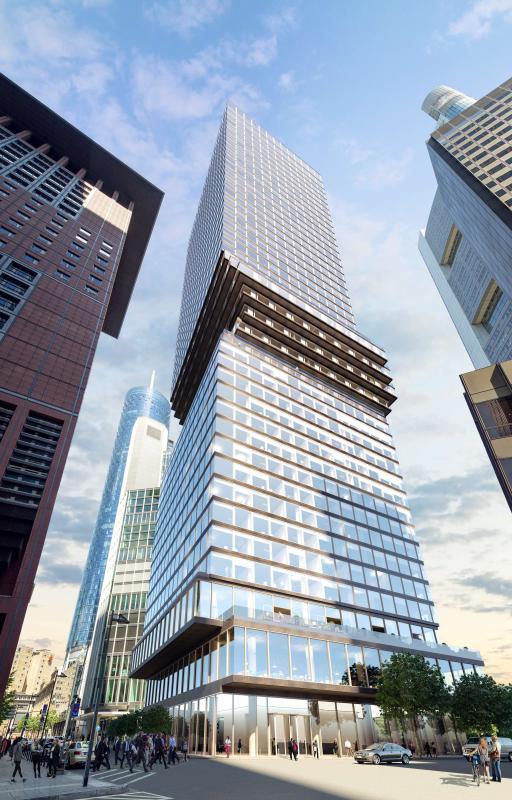 Frankfurt's OMNITURM tower is rising skyward