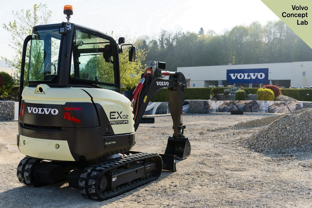 The EX2, Volvo CE's all-electric concept excavator.
