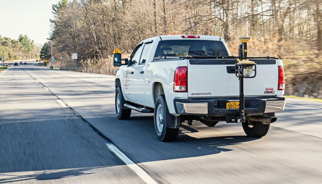 Designed to work at the speed of highway traffic, the Topcon SmoothRide resurfacing system is intended to safely assist road resurfacing contractors without the need for road or lane closures.