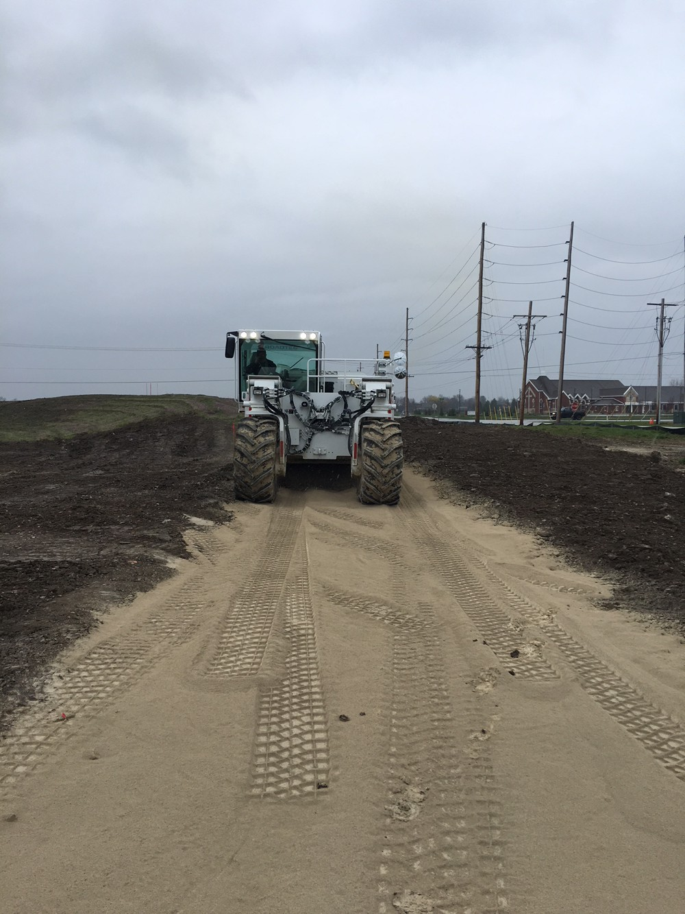 Chew It Up, Smooth It Out - Soil stabilizing made easy for warehouse build site