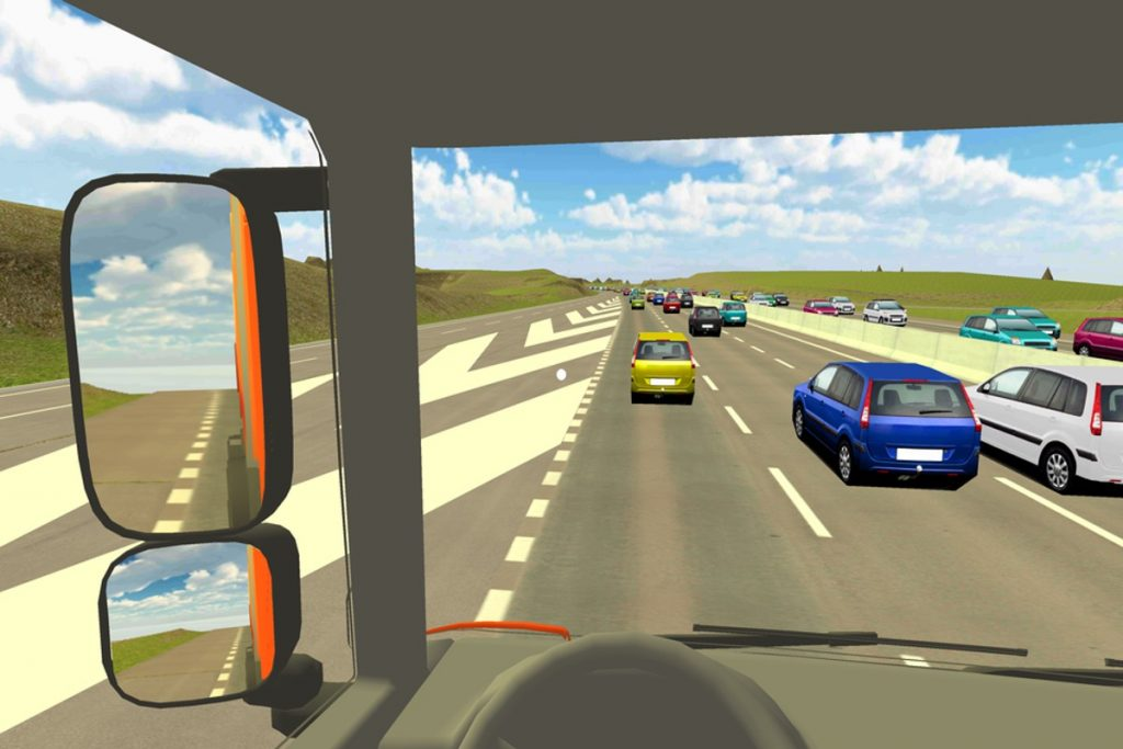 What Highways England's Virtual Reality App looks like