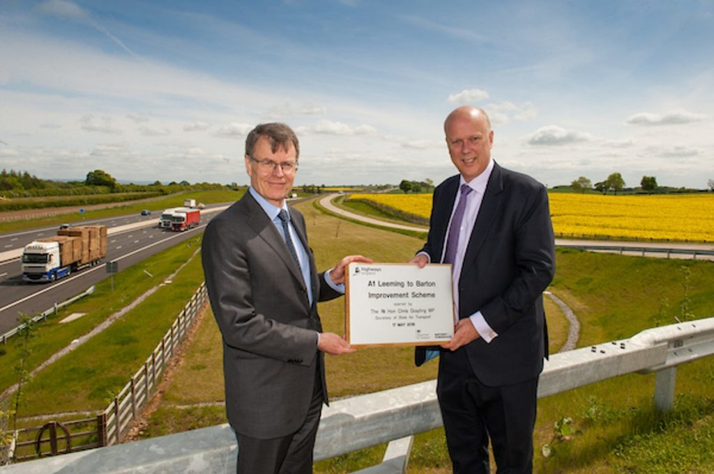 Transport Secretary Chris Grayling officially opened a new section of Britain's longest road, the A1, today (Thursday 17 May), helping to give drivers faster, safer journeys up and down the country.