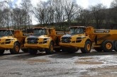 Trio of Volvo A30G articulated haulers head for J C Balls and Sons in Derbyshire