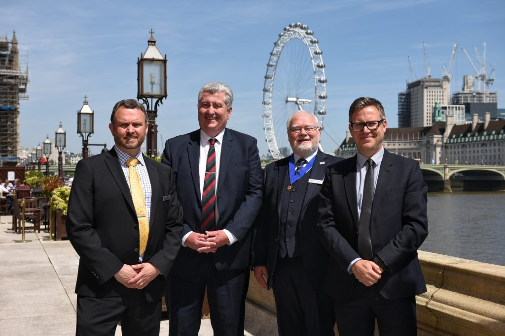 Dr Gavin Dunn, incoming CEO of CABE; Alasdair Coates, Chief Executive of The Engineering Council; Dr John Hooper, retiring CEO of CABE; Paul Bailey, Deputy CEO and Operations Director of The Engineering Council