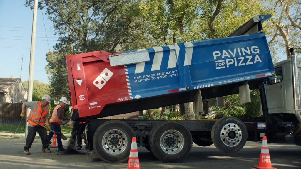 Domino's is so fed up with Potholes, they've started repairing them - Paving for Pizza