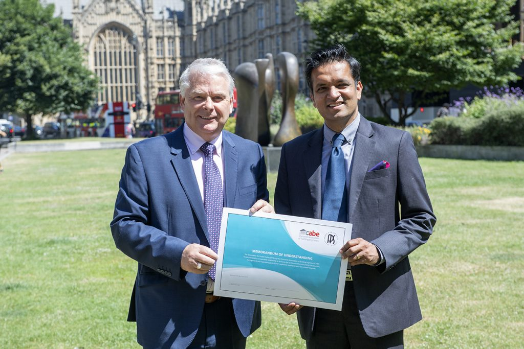 David Taylor, President, Chartered Association of Building Engineers and Bobby Chakravarthy, President, Association for Project Safety
