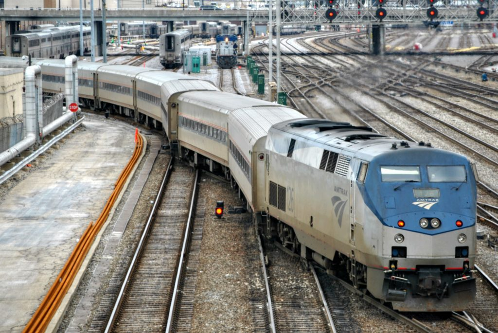 Amtrak train - Photo by Loco Steve