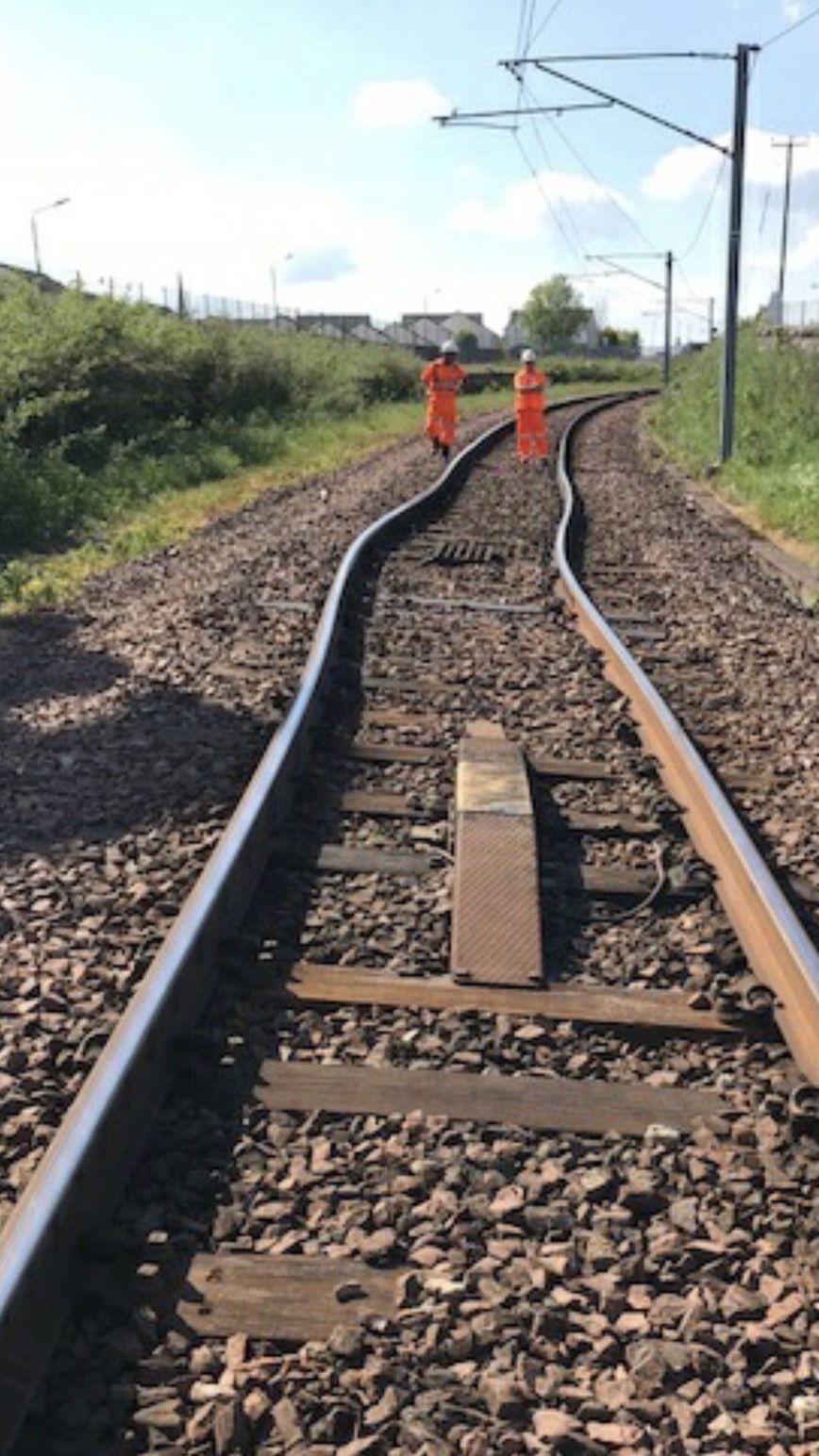 Buckled rails at Wishaw near Glasgow - 28 May 2018