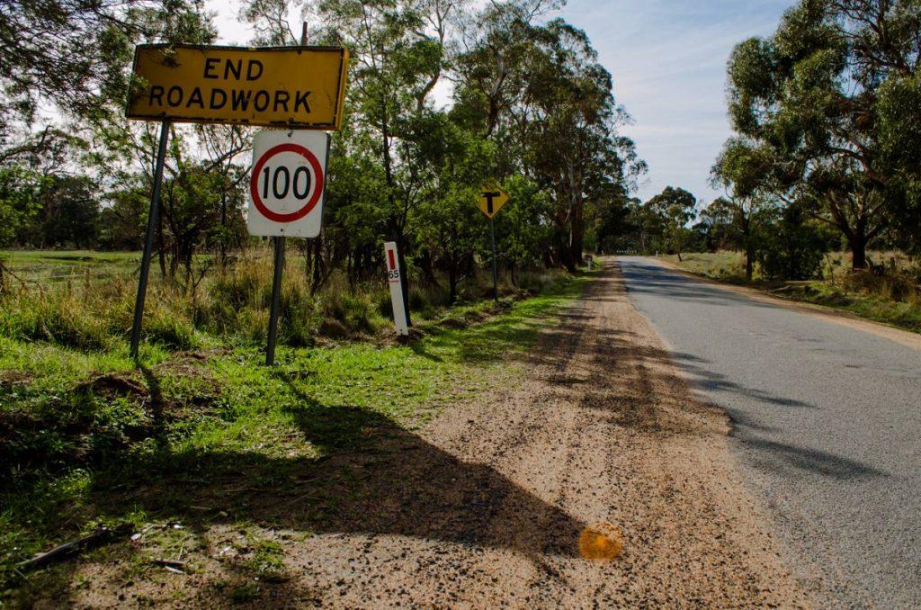 End Roadwork Sign - Photo by Simon Yeo