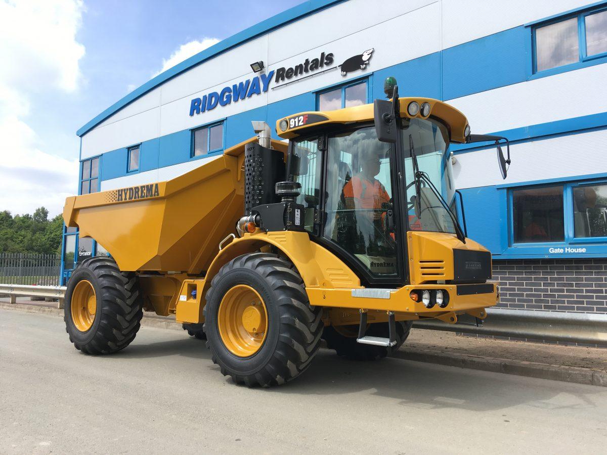 Hydrema 912F 12 ton Dump Trucks arrive at Ridgway Rentals