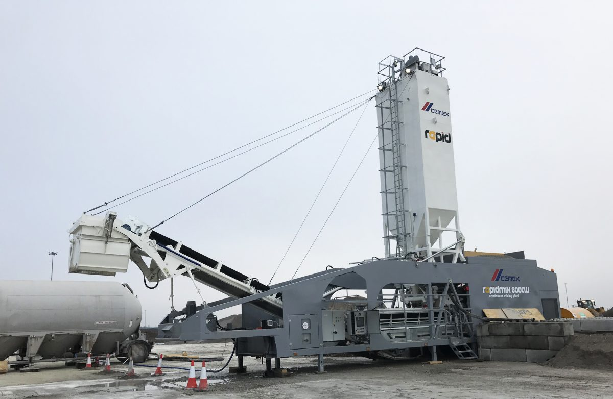CEMEX UK chooses another Rapidmix Mobile Continuous Concrete Mixing Plant
