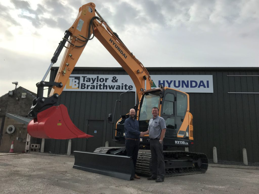 Trevor Keys (Dumfries Plant Rentals Ltd) and Ian Burton (Taylor and Braithwaite)