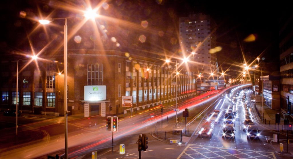 Leicester at Night - Photo by Holly Victoria Norval