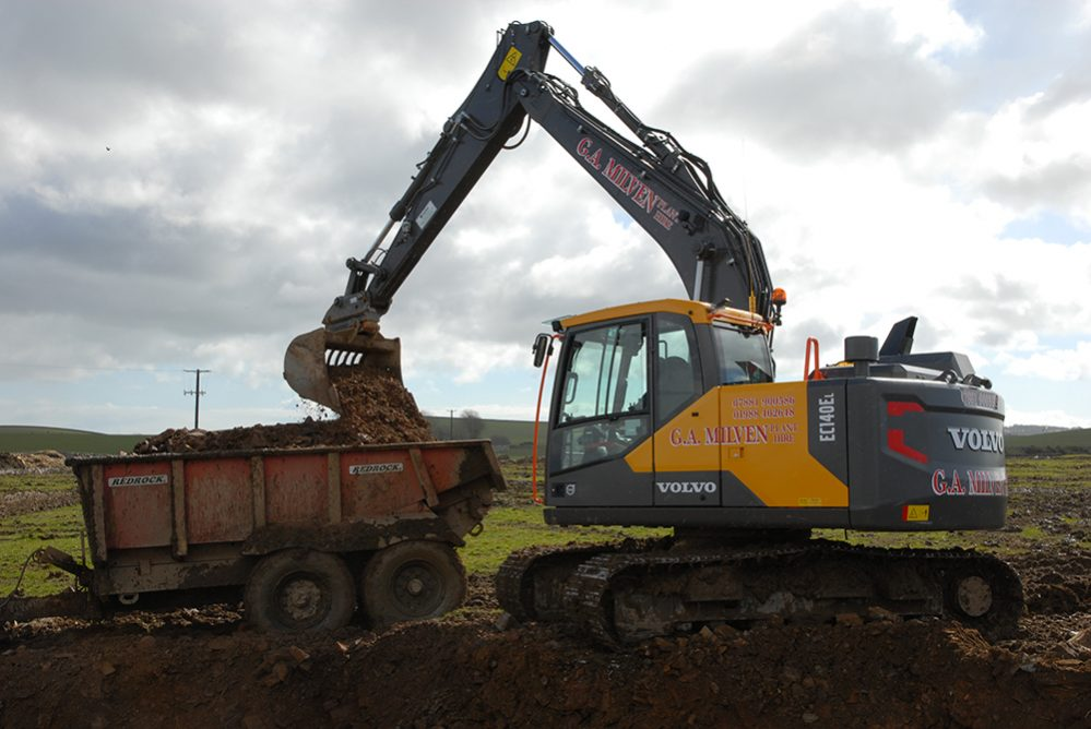 Scotland's G A Milven Plant Hire reunites with Volvo and the impressive Volvo EC140E excavator