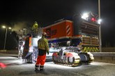 Super sized milling and paving equipment speeding up resurfacing on the M62 in Yorkshire