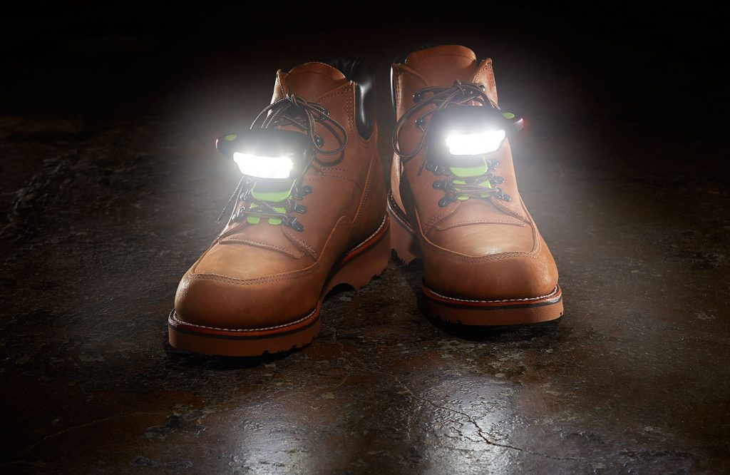 Night Shift safety shoe lights light up the workplace