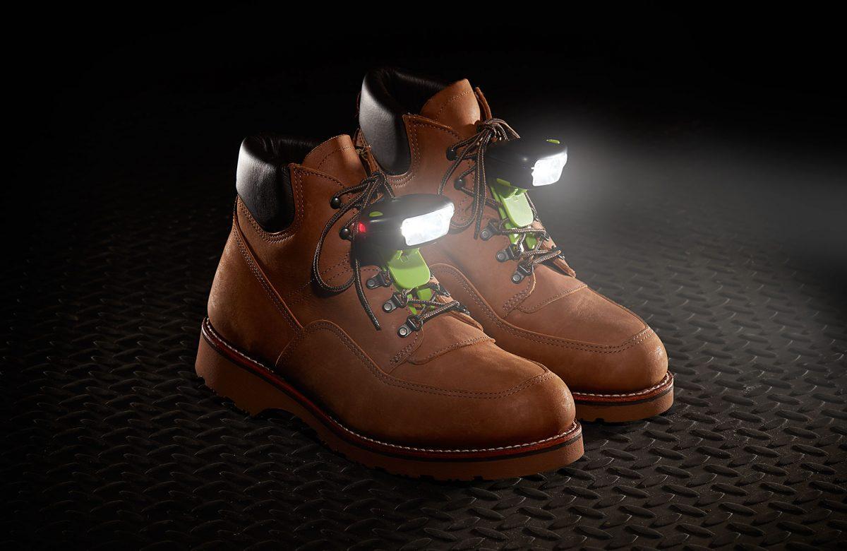 Night Shift safety shoe lights light up the workplace