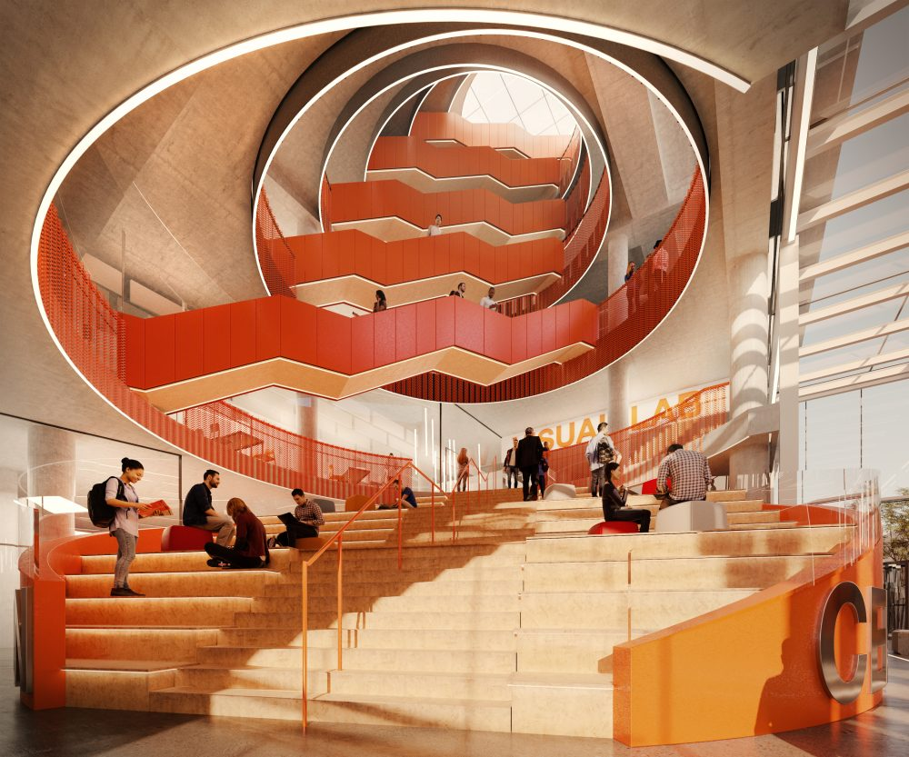 Oculus staircase, Innovation Central