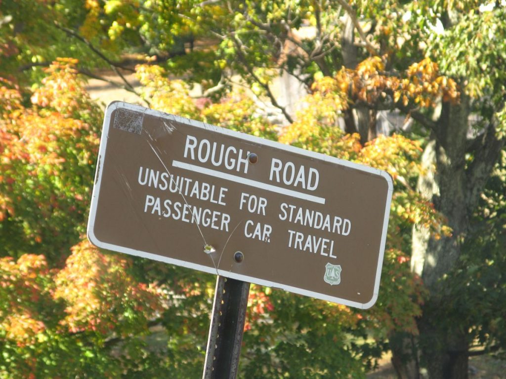 Rough Road Sign - Photo by Forest Wander