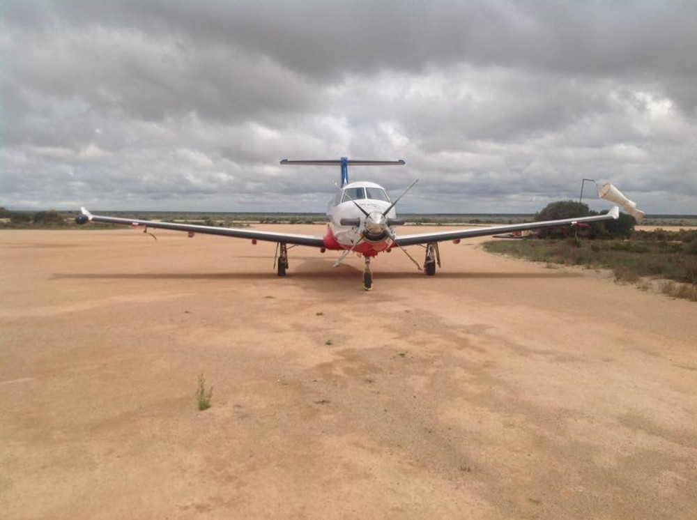 Royal Flying Doctor at Nullarbor Service Centre - Photo by Daryle Phillips