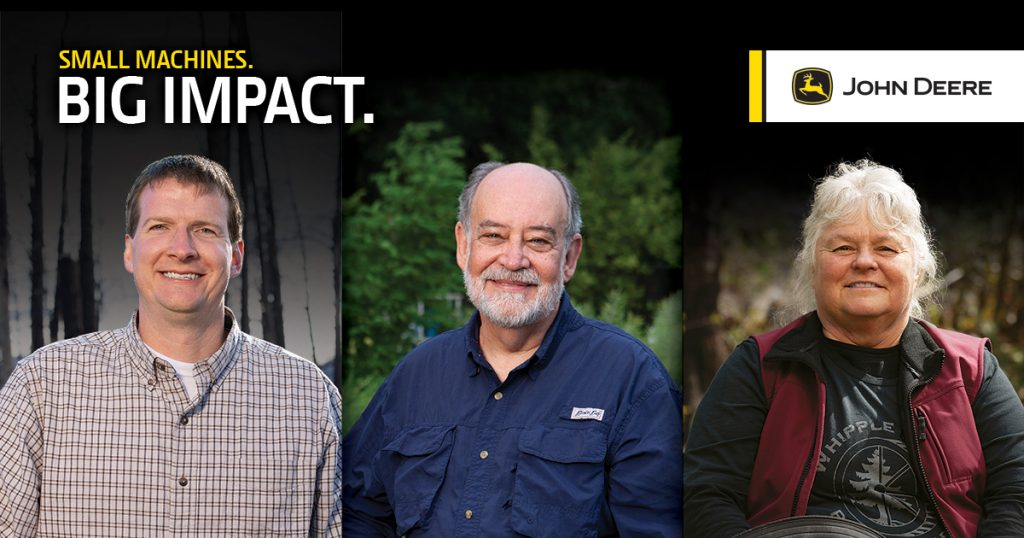 John Deere is announcing the three finalists of its second annual Small Machines. Big Impact. contest. Voting is now available online on Deere.com/Impact – and new this year, via text – through June 24.