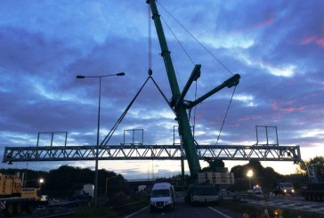 40 metre electronic sign gantry to span M6 Smart Motorway in England
