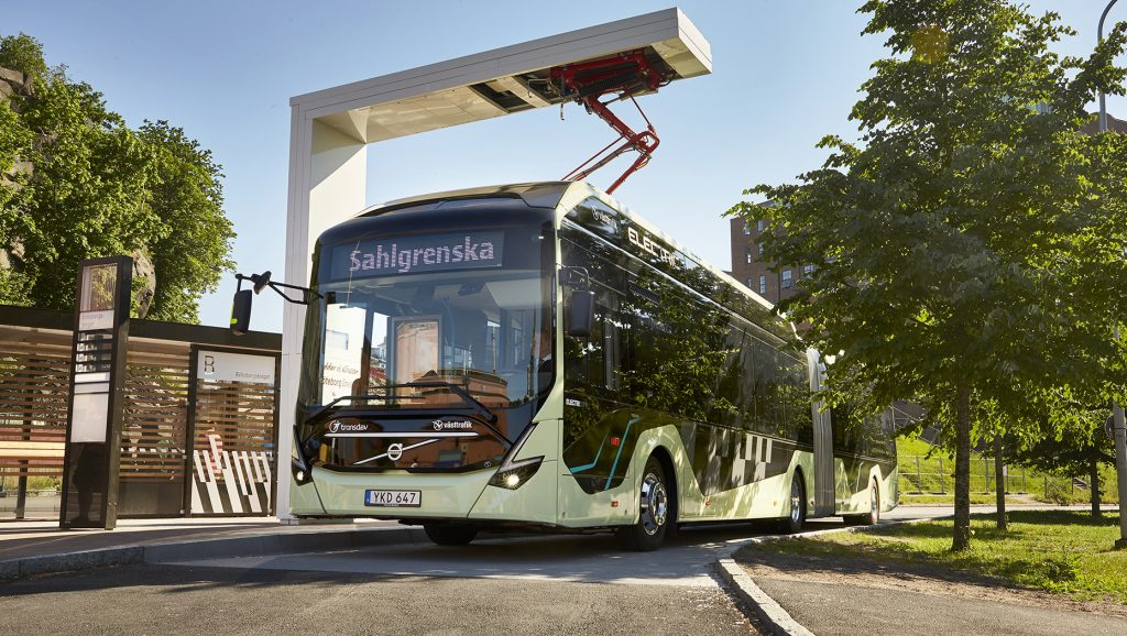 The Volvo Ocean Race signals the start for electric articulated buses in Gothenburg