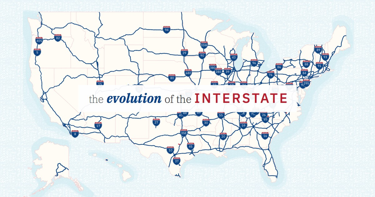 Geotab interactive infographic showcases the Evolution of America's Interstate Highways