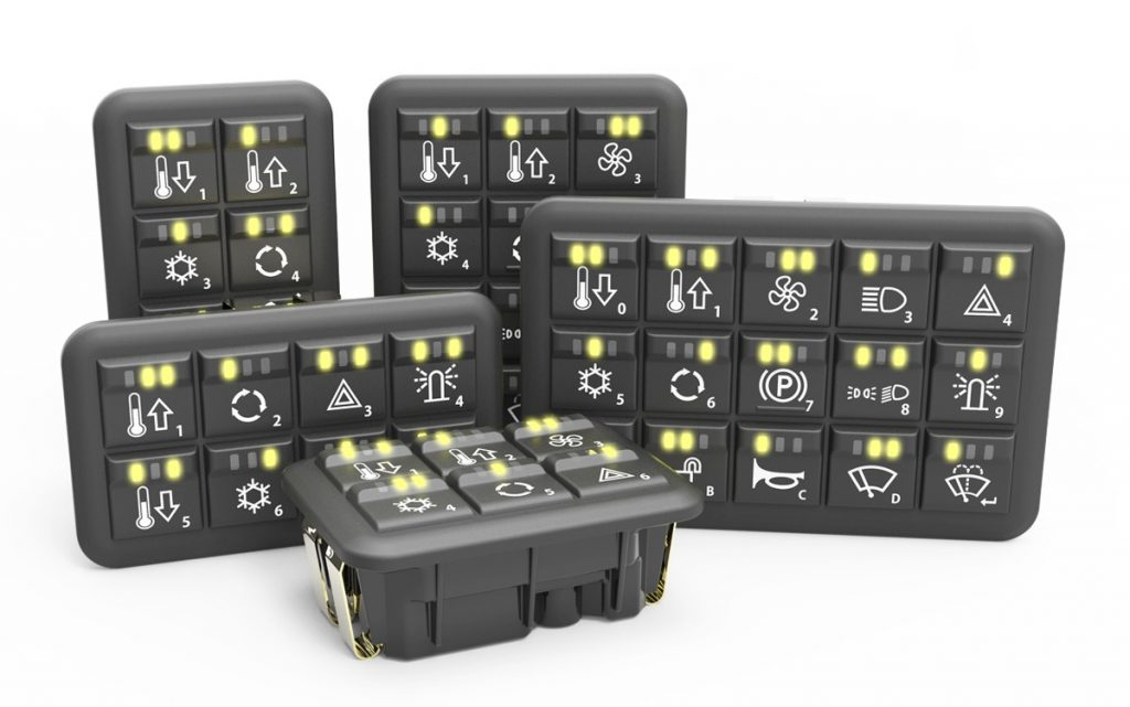 Grayhill updates CANbus Keypads and MMI Controllers for Off-highway machines
