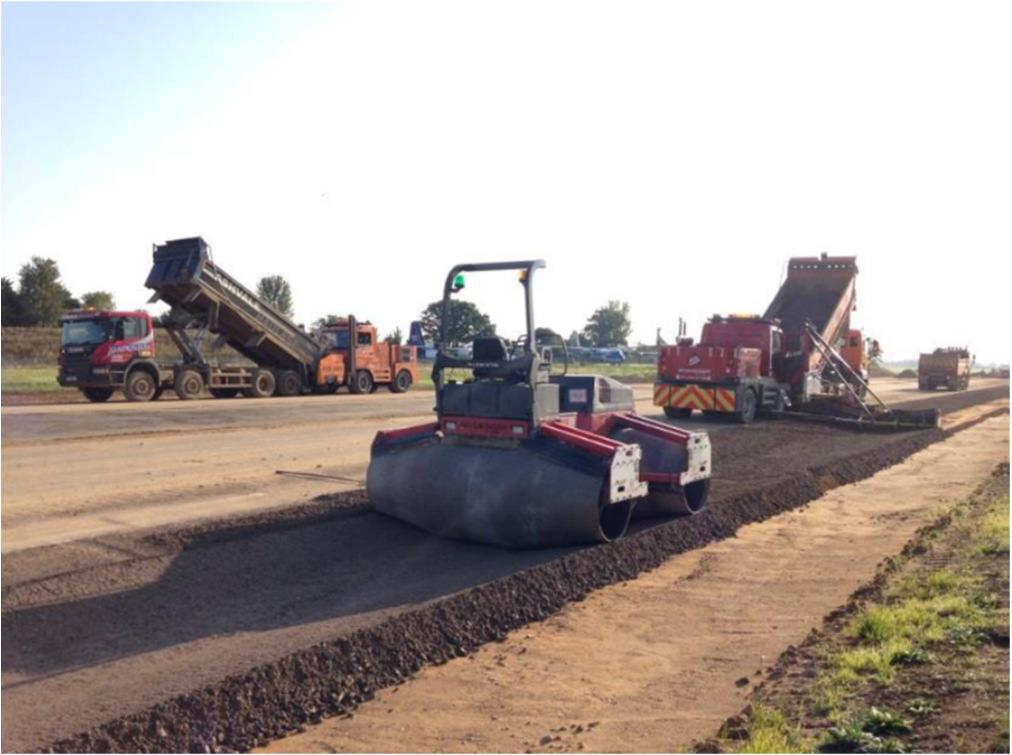 Swale construction improves 250% using Sidewinder Offset Paver trial