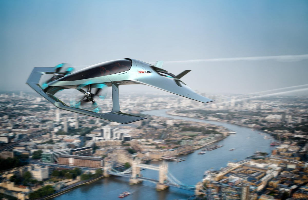 Aston Martin introduces flying car concept at Farnborough
