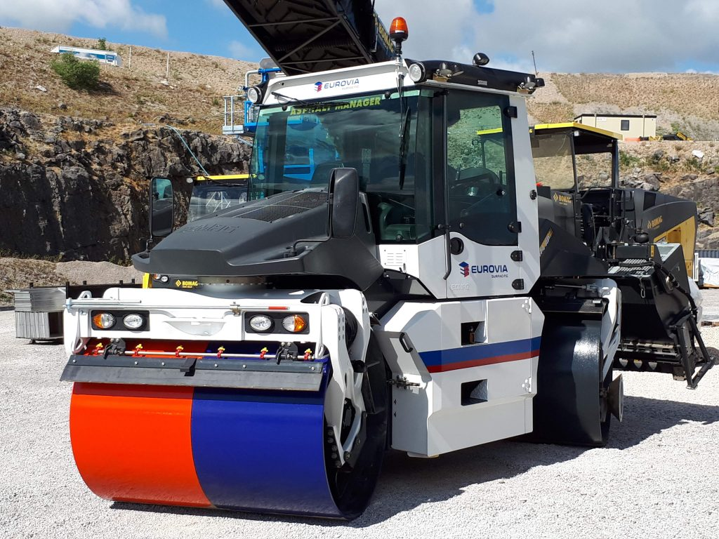 Eurovia Surfacing adds new BOMAG roller to its fleet