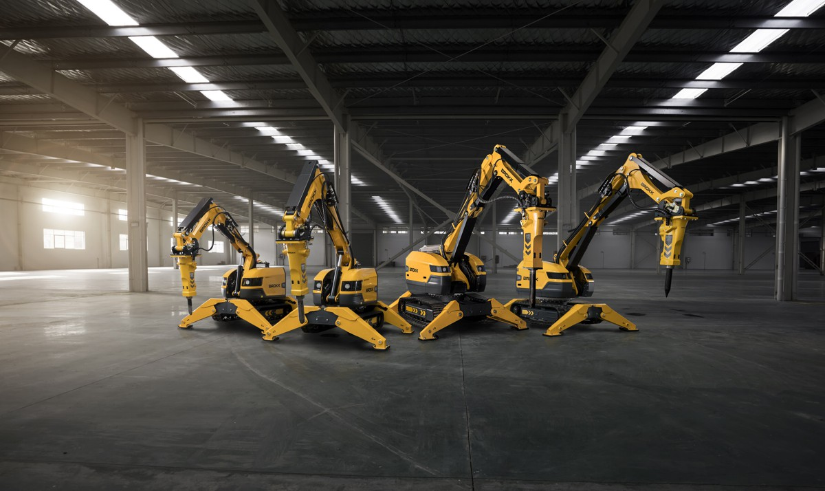 Brokk introduced four Next-Generation Demolition Machines at INTERMAT