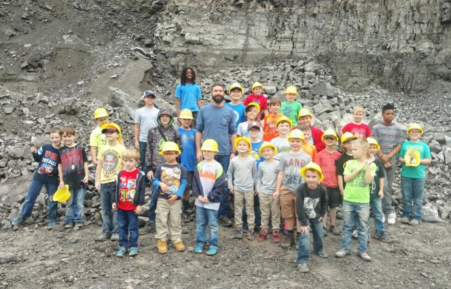 Rogers Group hosted local Boy Scout Troop 426 at its Gallatin Quarry, where they learned about the quarry and its equipment, and searched for fossils.