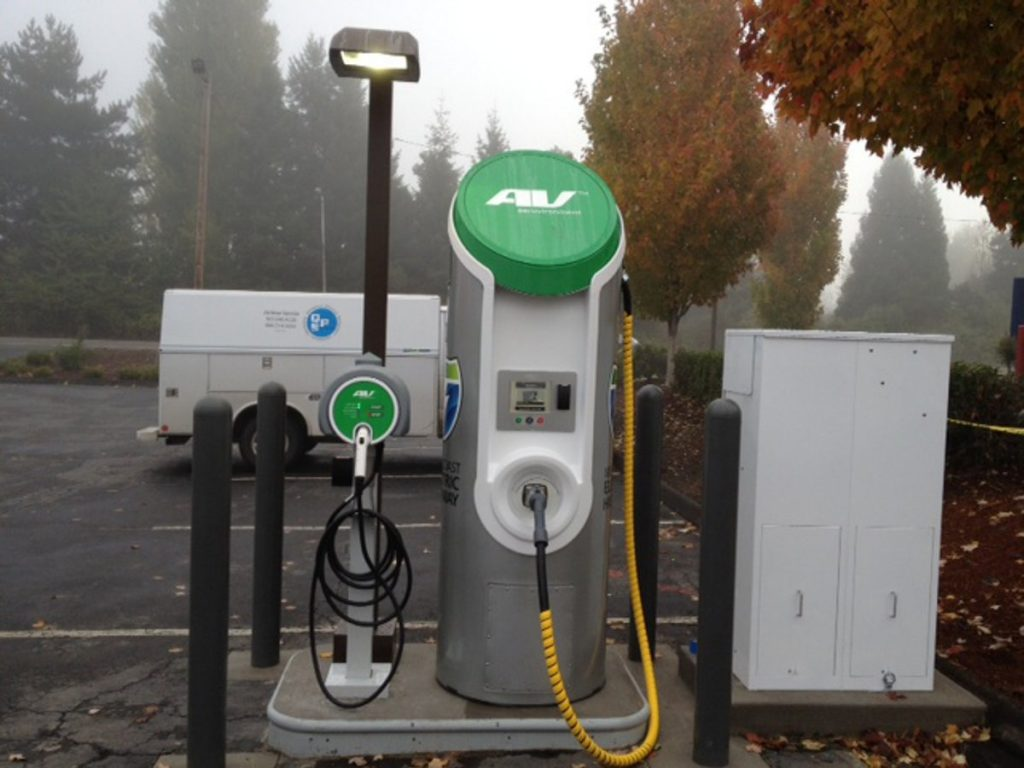 EV Charging Station - Photo by Oregon DoT