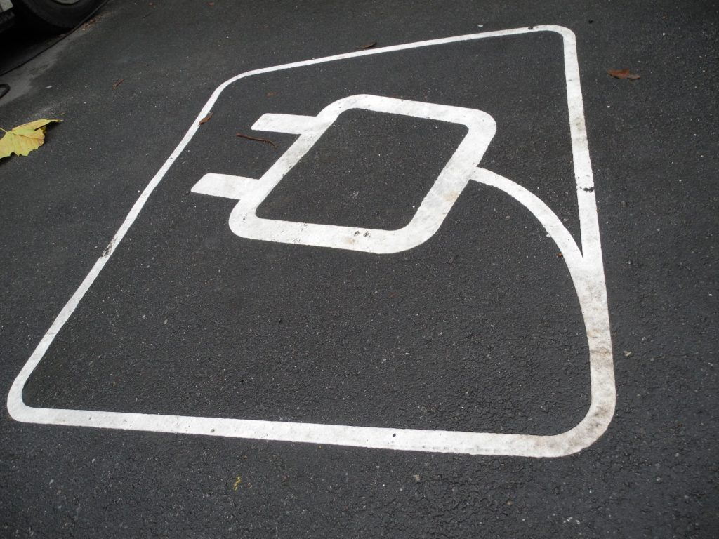 Electric Car Charging Space - Photo by Michael Edson