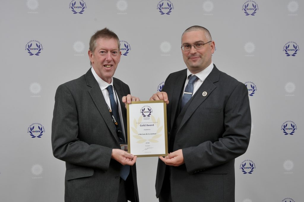 McCann wins coveted RoSPA Gold Award