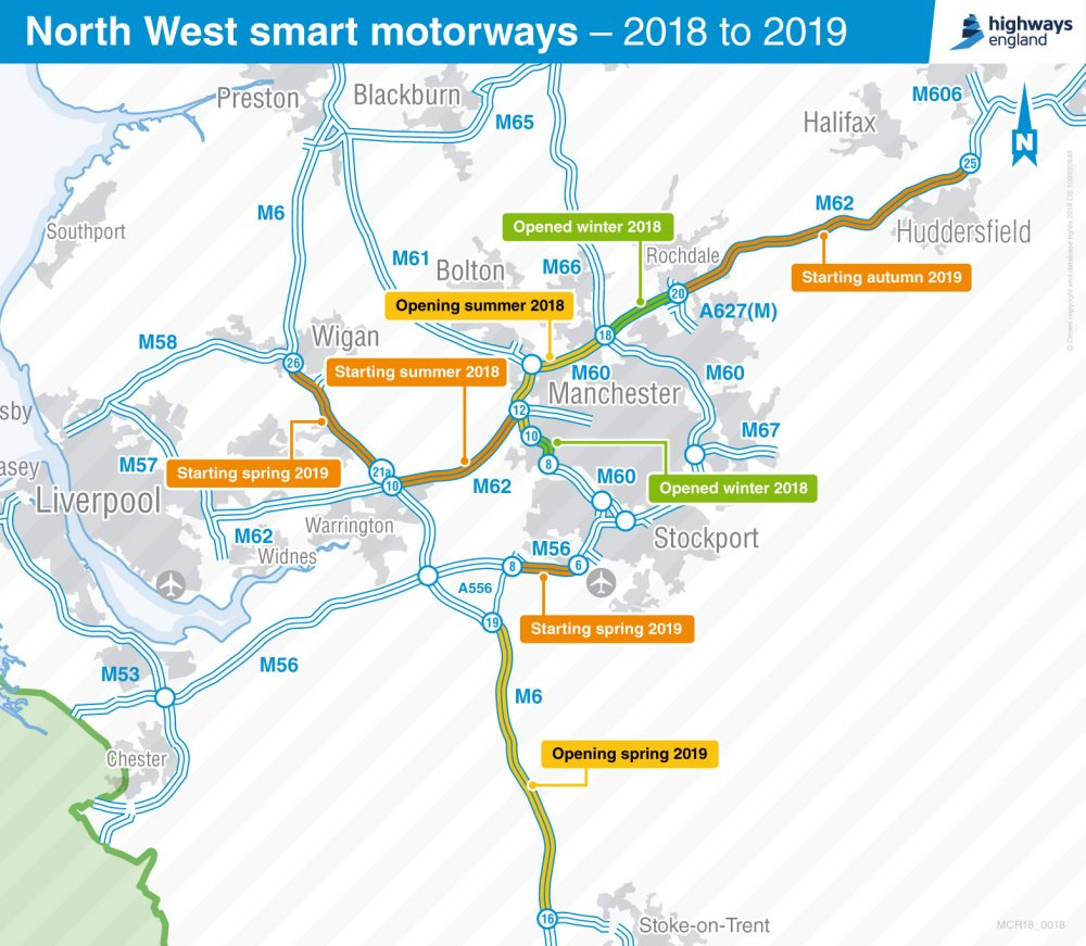 100 miles of extra lanes coming to North West England motorways