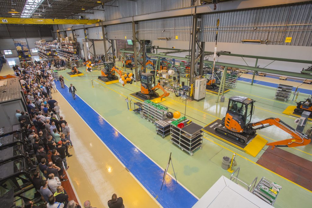 Hitachi modernises European mini excavator factory to enhance efficiency