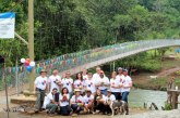 Parsons builds another Footbridge in Panama with Bridges to Prosperity